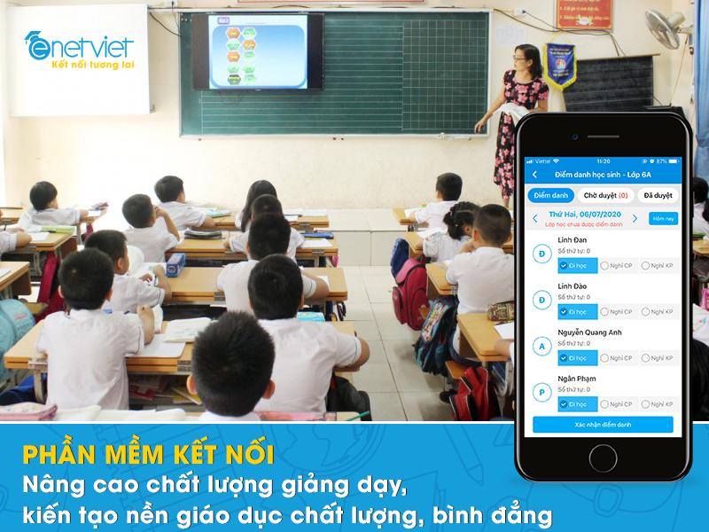 Lợi ích kép khi sử dụng phần mềm kết nối giáo dục trong nhà trường